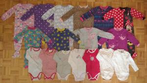 Pyjamas + cache-couche pour fille