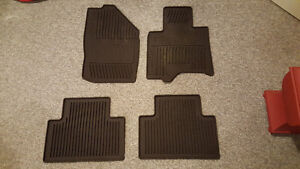 Infiniti FX 2009-2012 OEM All Season Rubber Floor Mats (Brown)