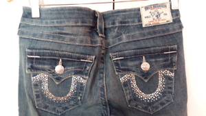 True religion jeans size 28 swarovski pockets