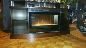 Fire place tv stand