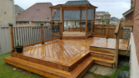 FENCING AND DECK! $45 LIN/FT FOR FENCE. ALL INCLUSIVE PRICES
