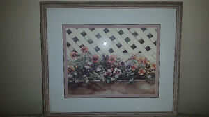 """PANSIES"" by Jodi Jensen Framed Ltd Edition Print, Signed,  # 'd"