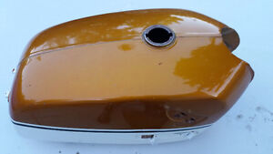 1970 Honda CB350K2 Tank Candy Gold with White