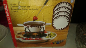 13 pieces candle chocolate fondue set