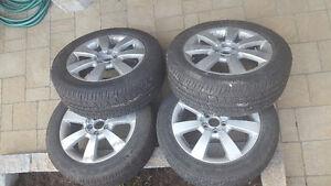 4 pneus 205/55R16 d'ete avec mag  a vendre
