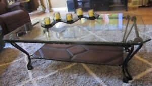 Bevelled Glass Coffee Table