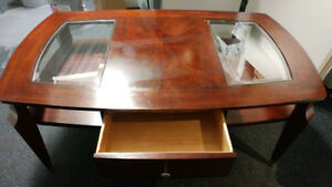 Vintage mid-century cherrywood antique coffee table