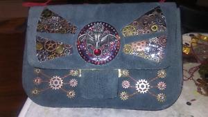 OOAK Steampunk inspired purse