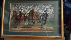 Collectible Framed Horse Racing Print