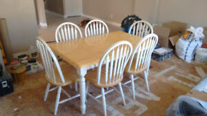 KITCHEN TABLE 6 CHAIRS