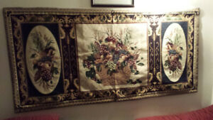 WALL TAPESTRY-MARQUETERIETapestry wall hanging. Needlepoint.