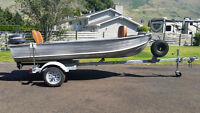 12' Aluminum Boat with trailer and 4 hp Yamaha motor