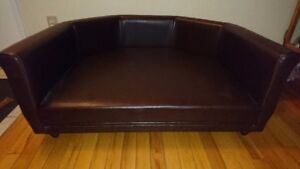 Large Durable Solid Leather Couch for Dogs