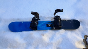 Snowboard, bindings, and boots