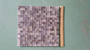 Mixed Mosaic Glass and Stone Tiles