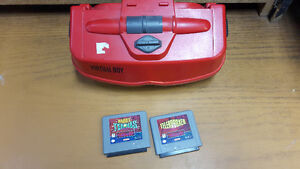 Nintendo Virtual Boy - System Only & 2 Games