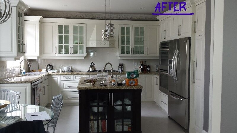 Kitchen Cabinet Refacing Refinishing 905 691 6616 Painters Painting Oakville Halton Region Kijiji