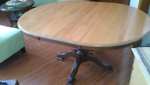 Dining room table sits 6  No chairs.  Free delivery to Yarmouth