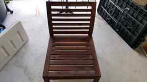 3 assembled wooden teak chairs  $35 each