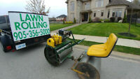 Lawn Rolling & Aerating Combination