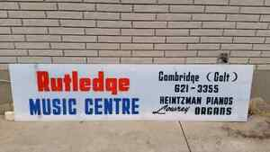 Music collectable. Sign from music store in Cambridge