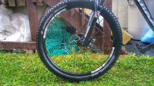 Hans Dampf tires with Jalco XM420 wheelset. 27.5
