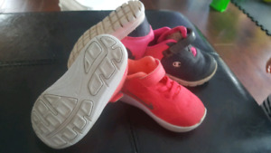 Nike and champiom girl size 4 baby shoes