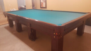 Snooker pool table 12' x 6'