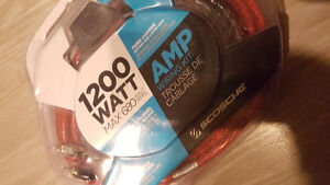 2 channel amp kit BRAND NEW and speaker wire