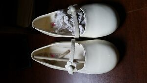Brand new size 12 cream patent leather girl shoes