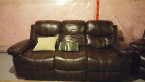 3 Seater with 2 recliner Sofa - Tan/Brown