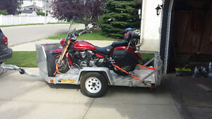 Superb motorcycle trailer