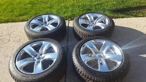 20X10 SRT OEM WHEELS FACTORY POLISHED WITH HANKOOK WINTER TIRES