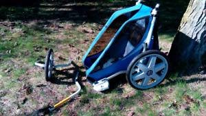 Chariot Single Cheetah stroller - kid's favorite! -updated
