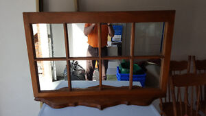Antique Mirror, 8 panes with or without shelf Kitchener / Waterloo Kitchener Area image 1