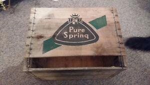Caisse en bois Pure Spring / Boite en bois Pure Spring