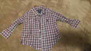 Ralph lauren checkered red polo 18 M
