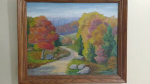 """Jean Chandler """"Autumn Huntsville"""" Oil on Board North Shore Greater Vancouver Area image 1"""
