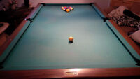 Reduced to $500 - Pool Table with Billiard/Snooker balls