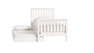Bombay  and Pottery Barn Twin Bed with Trundle
