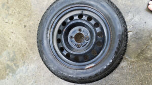 Snow Tires for Chey Aveo with Rims. Less then 100 km.