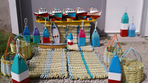 Wooden Cape Islanders, Dorys, Lobster Buoys, Rope Mats & Baskets