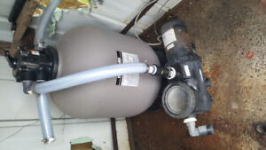pool pump and filter /abs piping etc!
