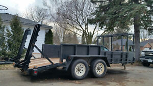 Modified bobcat trailer