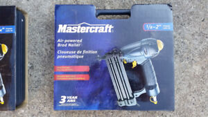 Mastercraft Air-powered Brad Nailer 5/8 to 2 in. Brand New