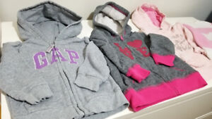 Girl hoodies sweaters, size 18M/2T