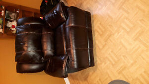 Genuine leather powered recliner