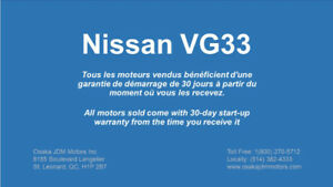 Nissan VG33 Moteur - Pathfinder Xterra QX4 Frontier - 3.3L V6
