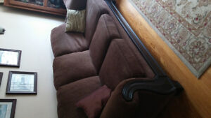 For sale brown couch and matching chair..best offer