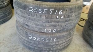 Pair of 2 Motomaster All Season 205/55R16 tires (65% tread life)